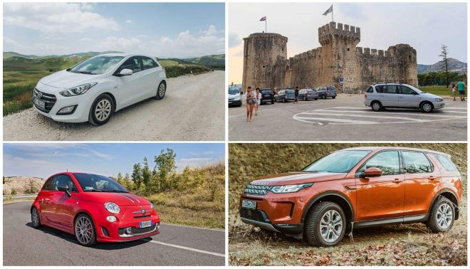 4 types of cars for car hire in Croatis