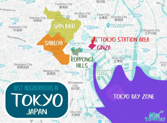 tokyo olympics map
