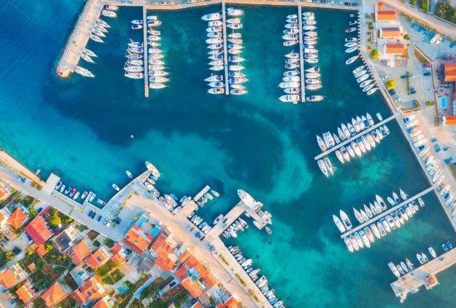 aerial view croatia