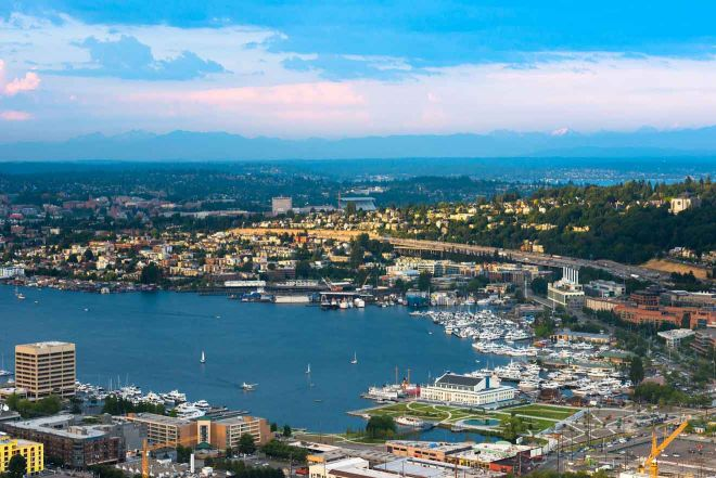 south sore of lake union in seattle