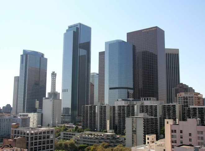 skyscrapers in downtown