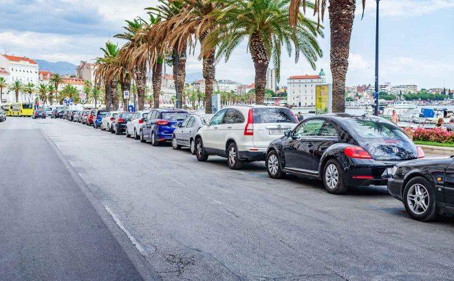 croatia cars in city parking