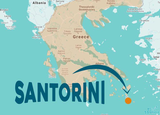 santorini location