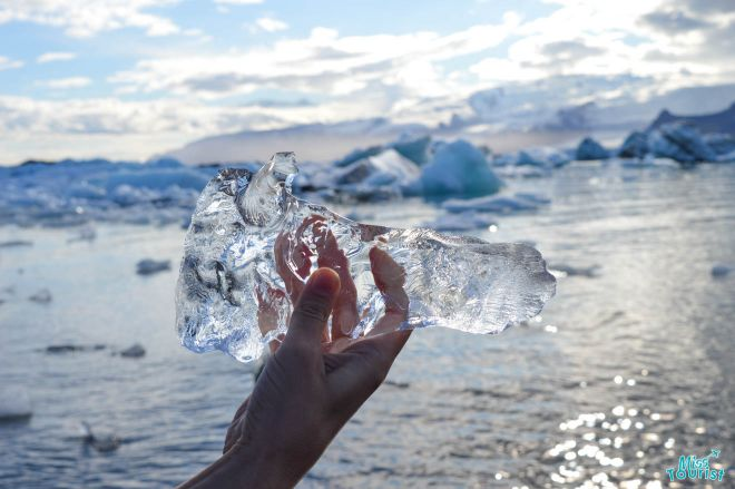 ice in hand iceland
