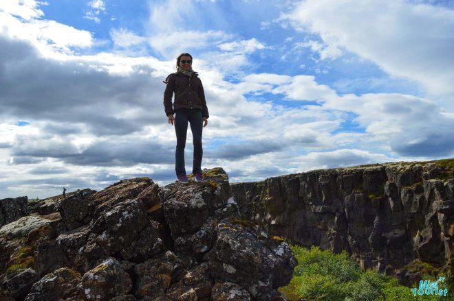 girl national park iceland