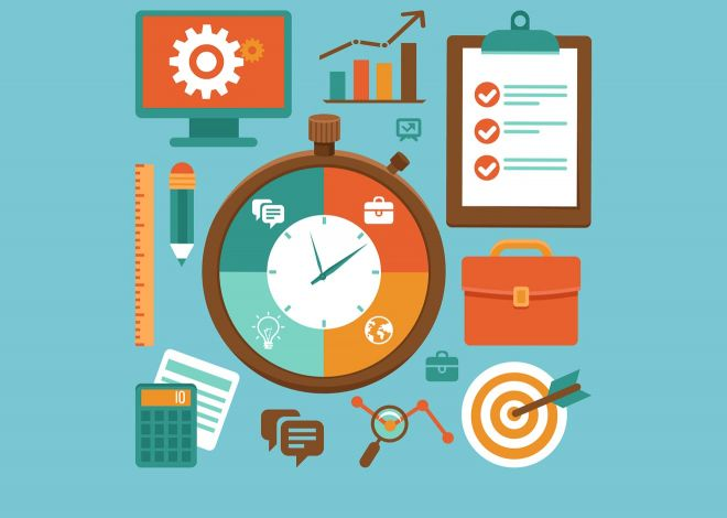 time management vector llustrator