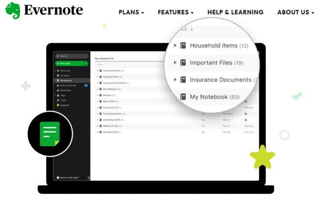 evernote app