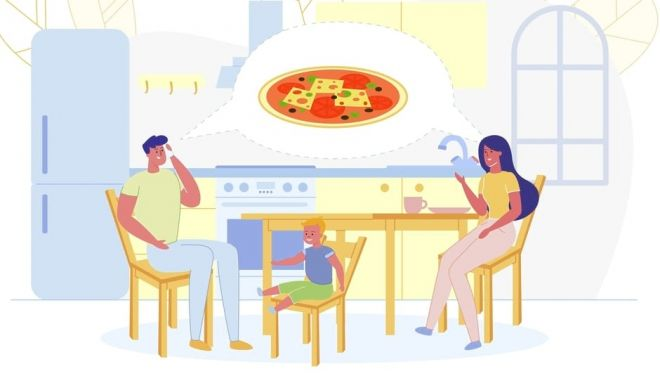ordering food online family