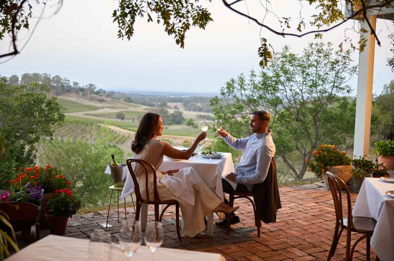 Bistro Molines, Mount View, Hunter Valley couple