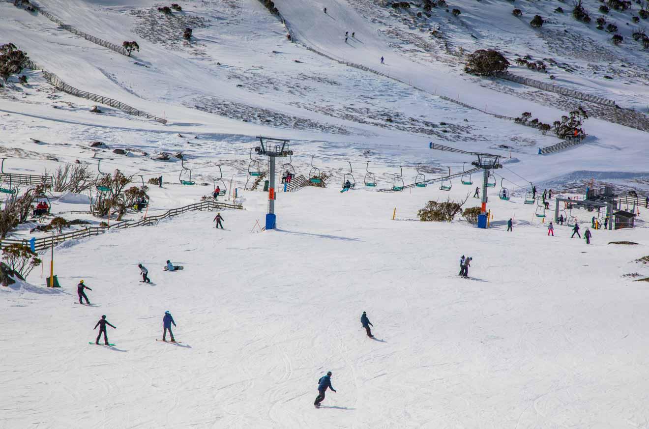 Blue Cow ski resort in Perisher resort ski