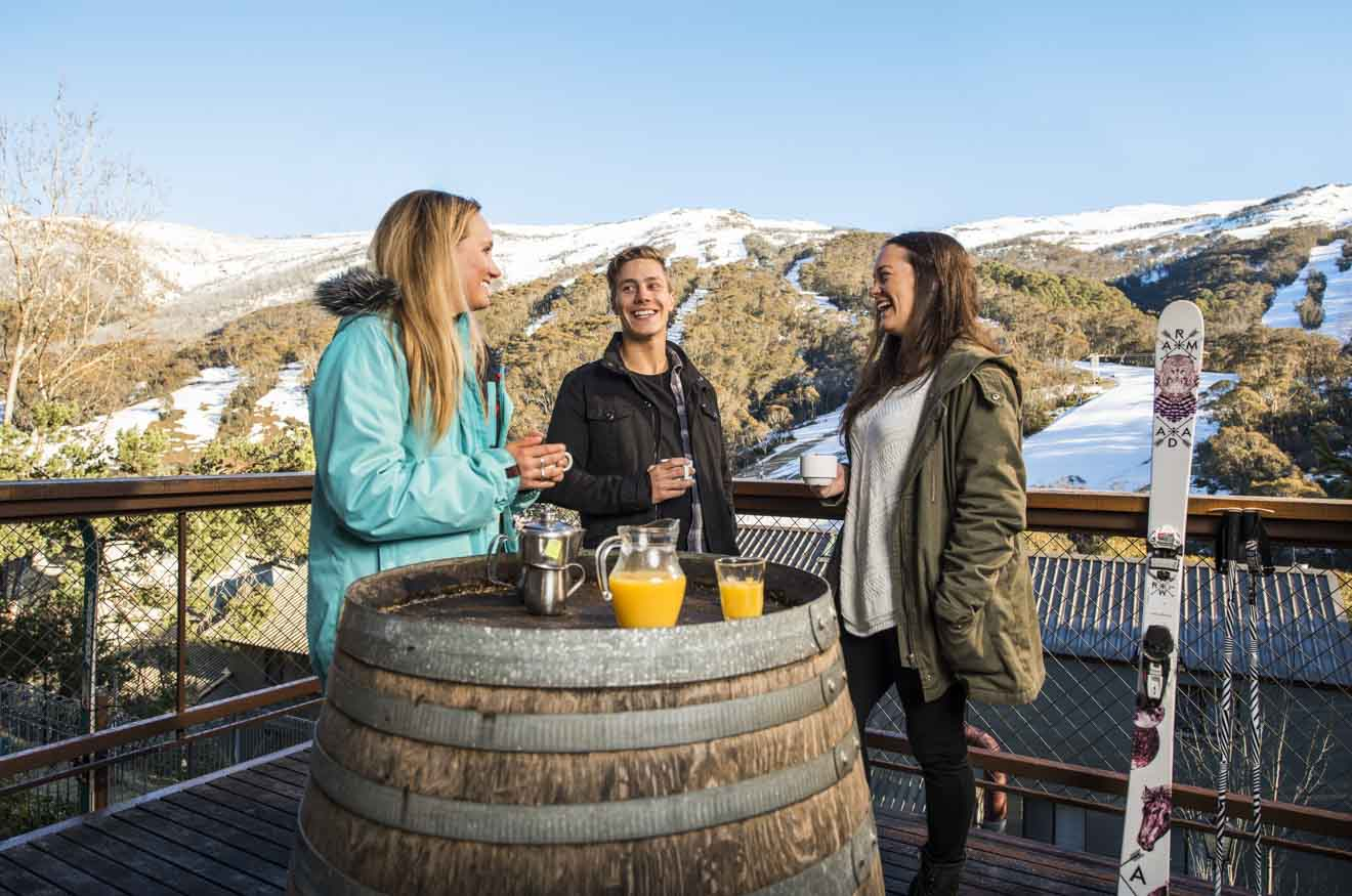 Candlelight Lodge Thredbo in the Snowy Mountains nightlife view