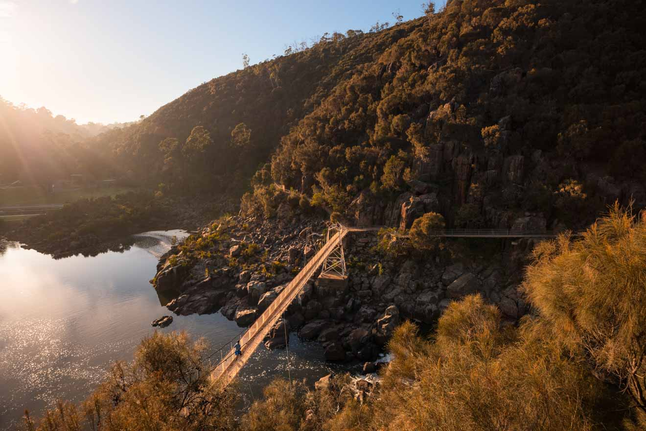 Cataract Gorge tasmania romantic