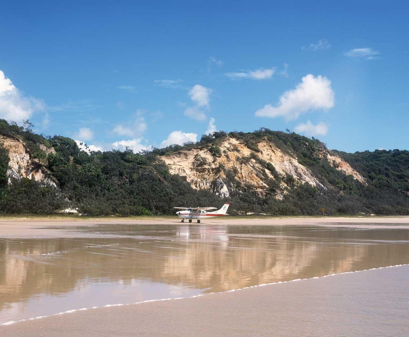 coloured sands in fraser island