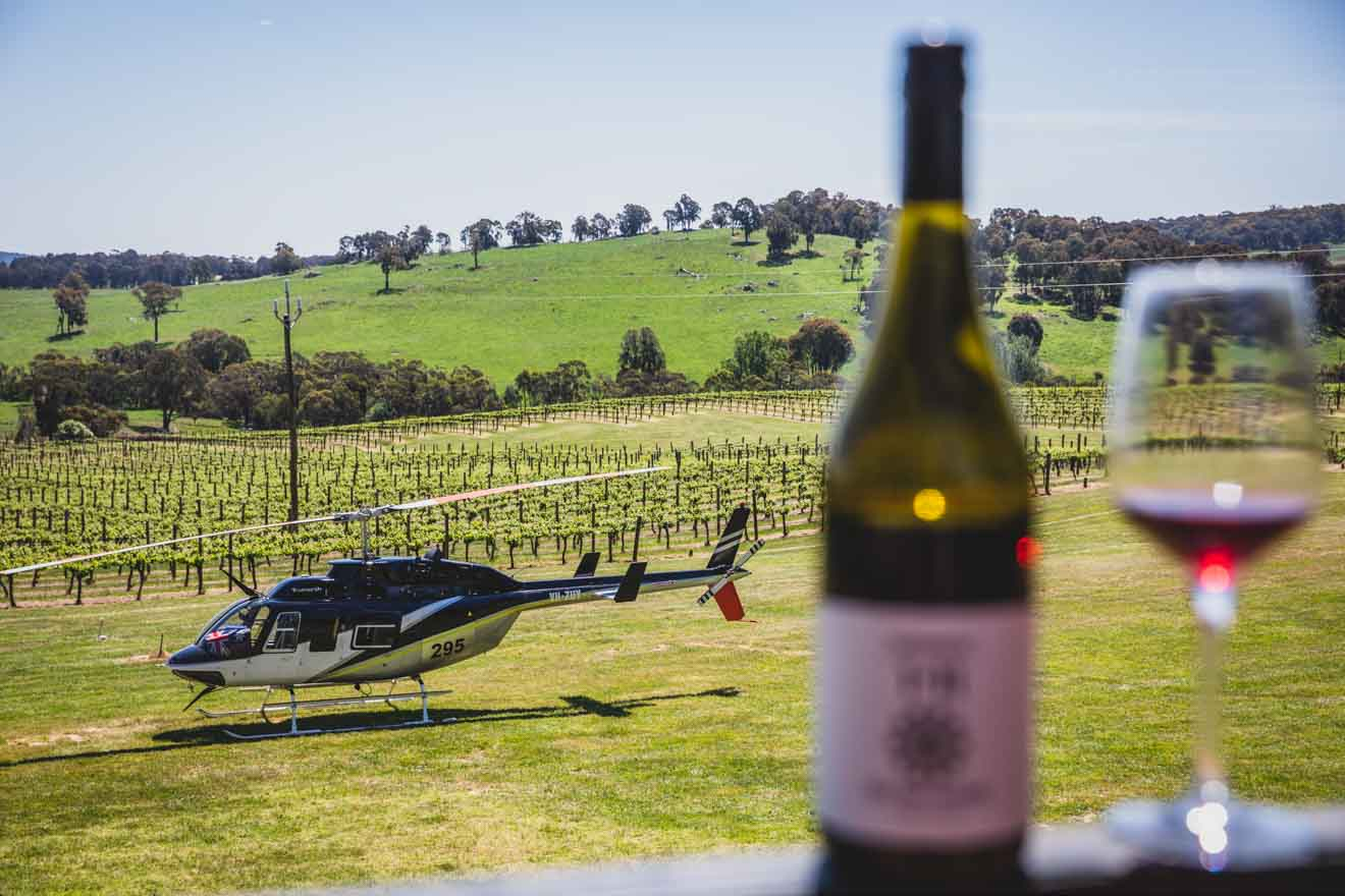 Courabyra Wines, Tumbarumba Hunter Valley helicopter tour