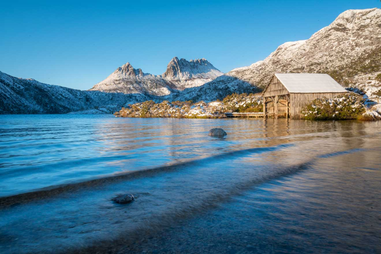 Cradle Mountain in snow season tasmania