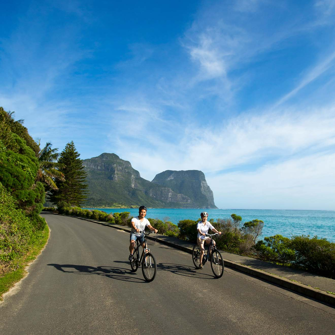 Cycling Lord Howe Island road