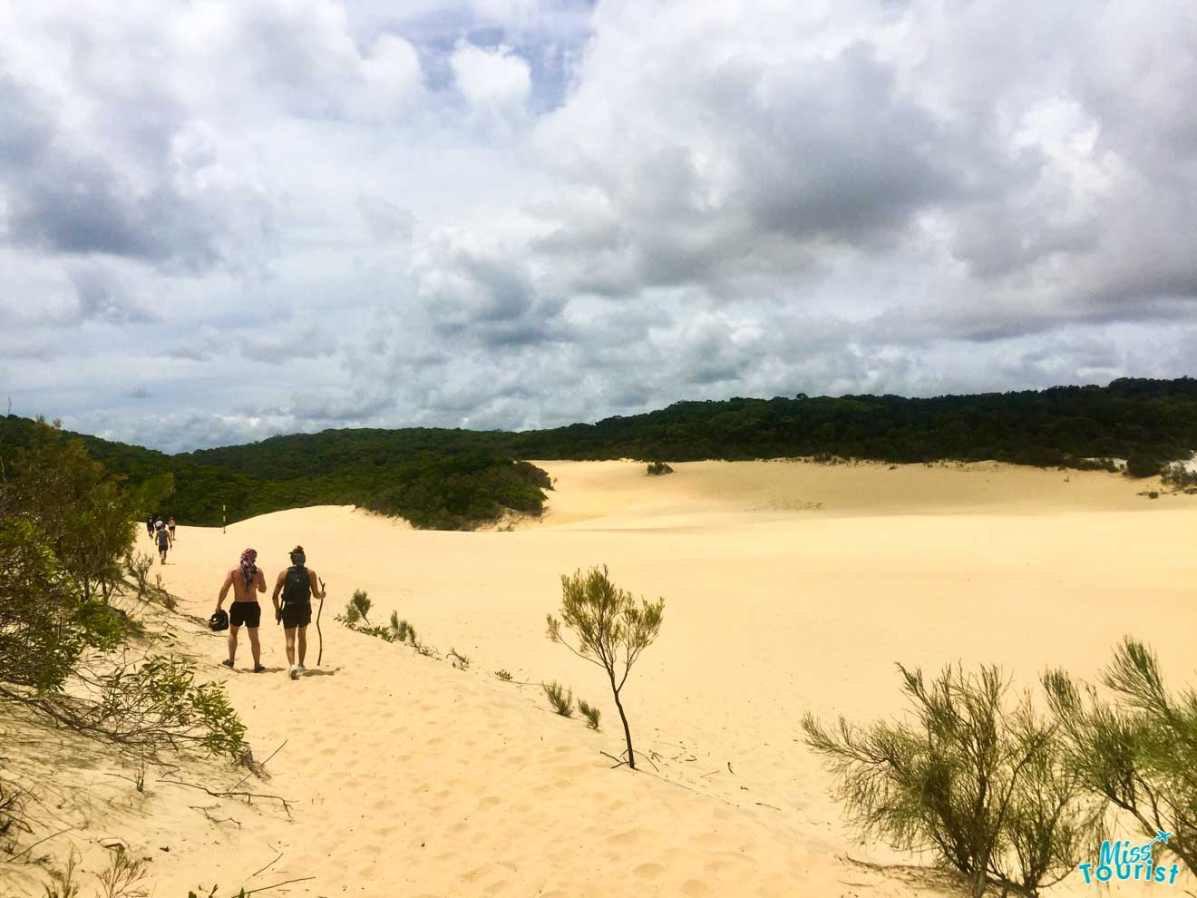 sand dune lake wabby fraser island