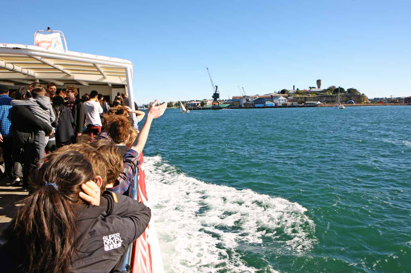 Ferry journey to Cockatoo Island Tour