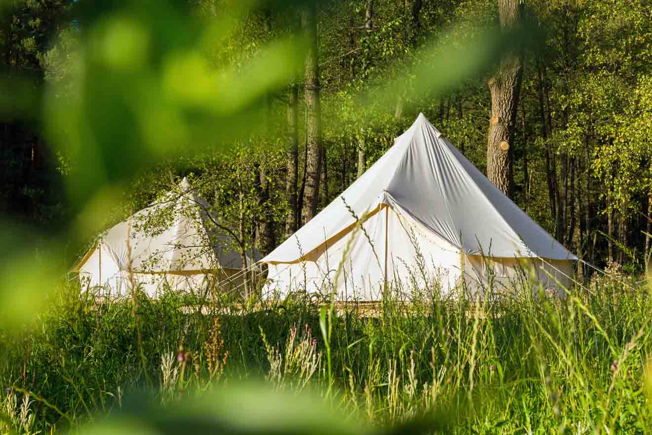 Glamping tents where to stay in Glenworth Valley