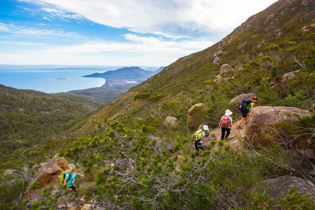 Great Walks of Australia freycinet national park mounting climbing