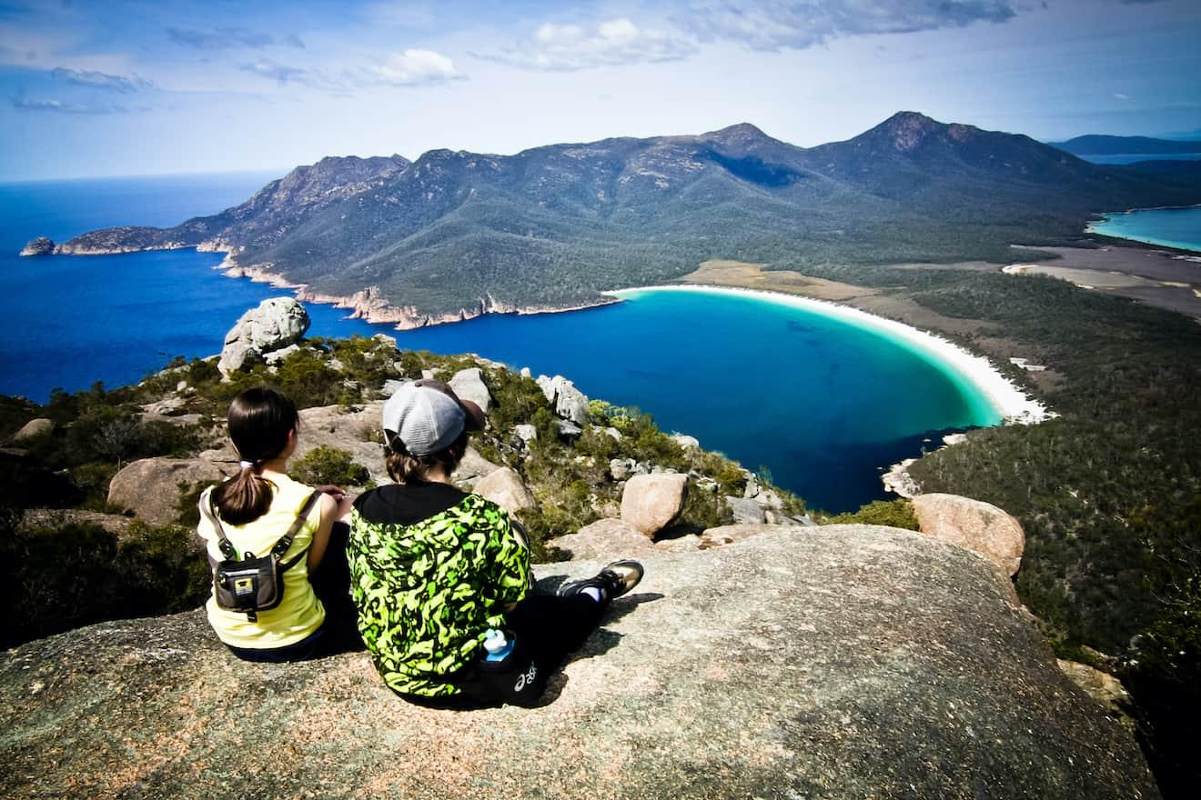 HAZARDS BEACH CIRCUIT Tasmania view