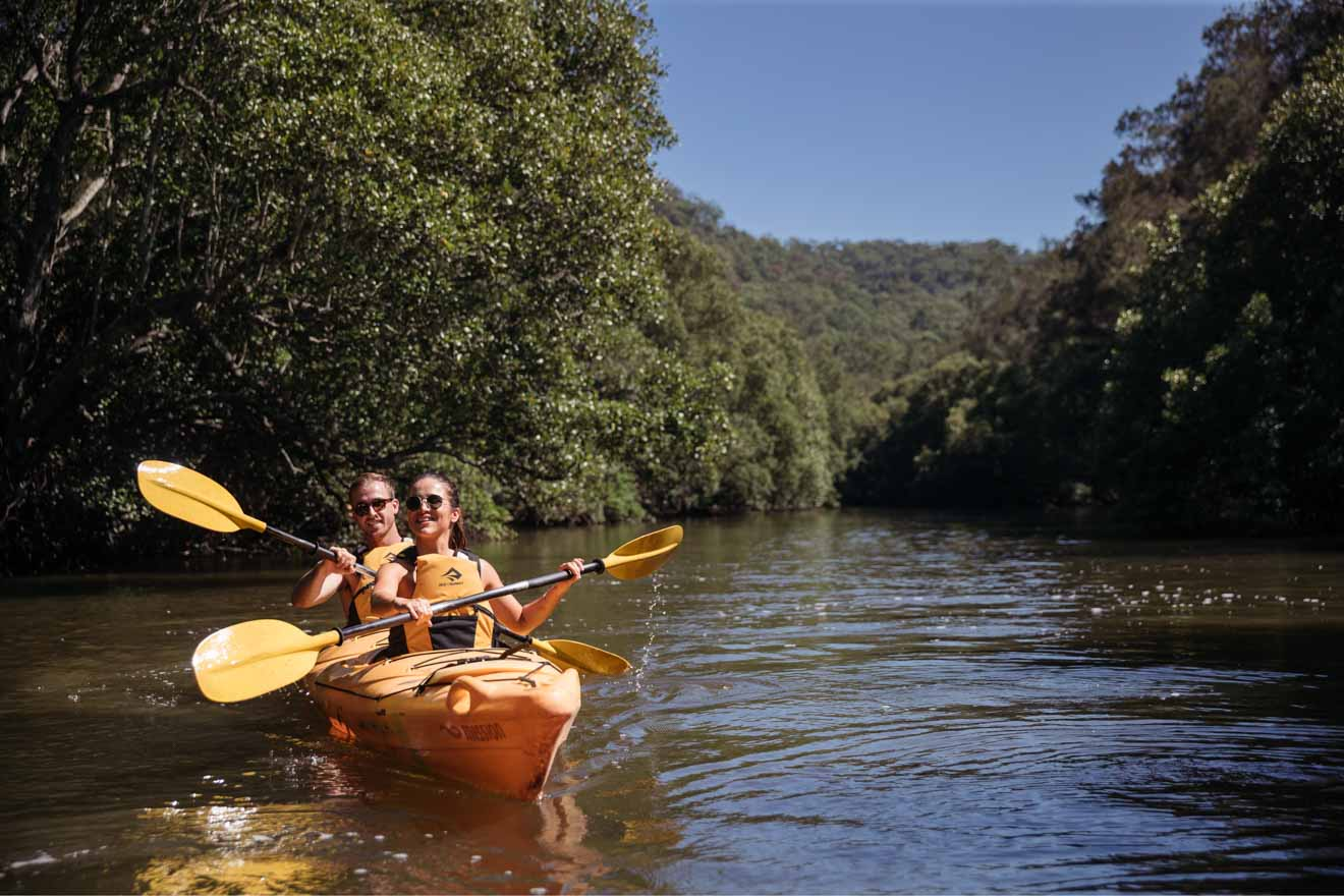 Kayaking, activities in Glenworth Valley