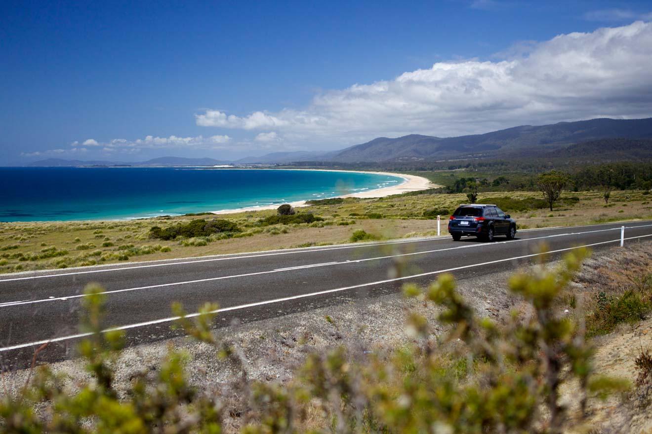 Lagoons Beach tasmania Road Trip