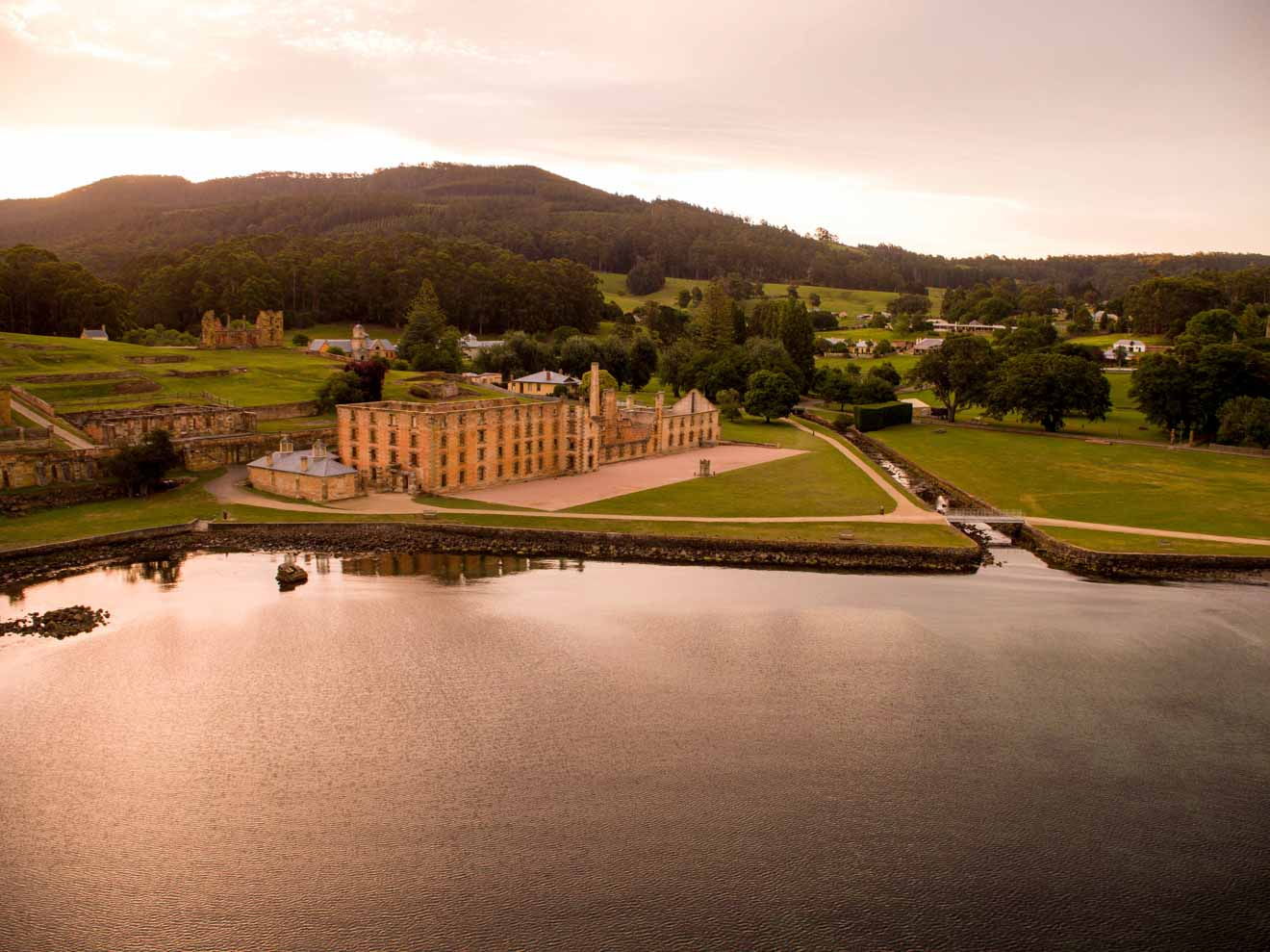 Port Arthur Historic Site - aerial - township