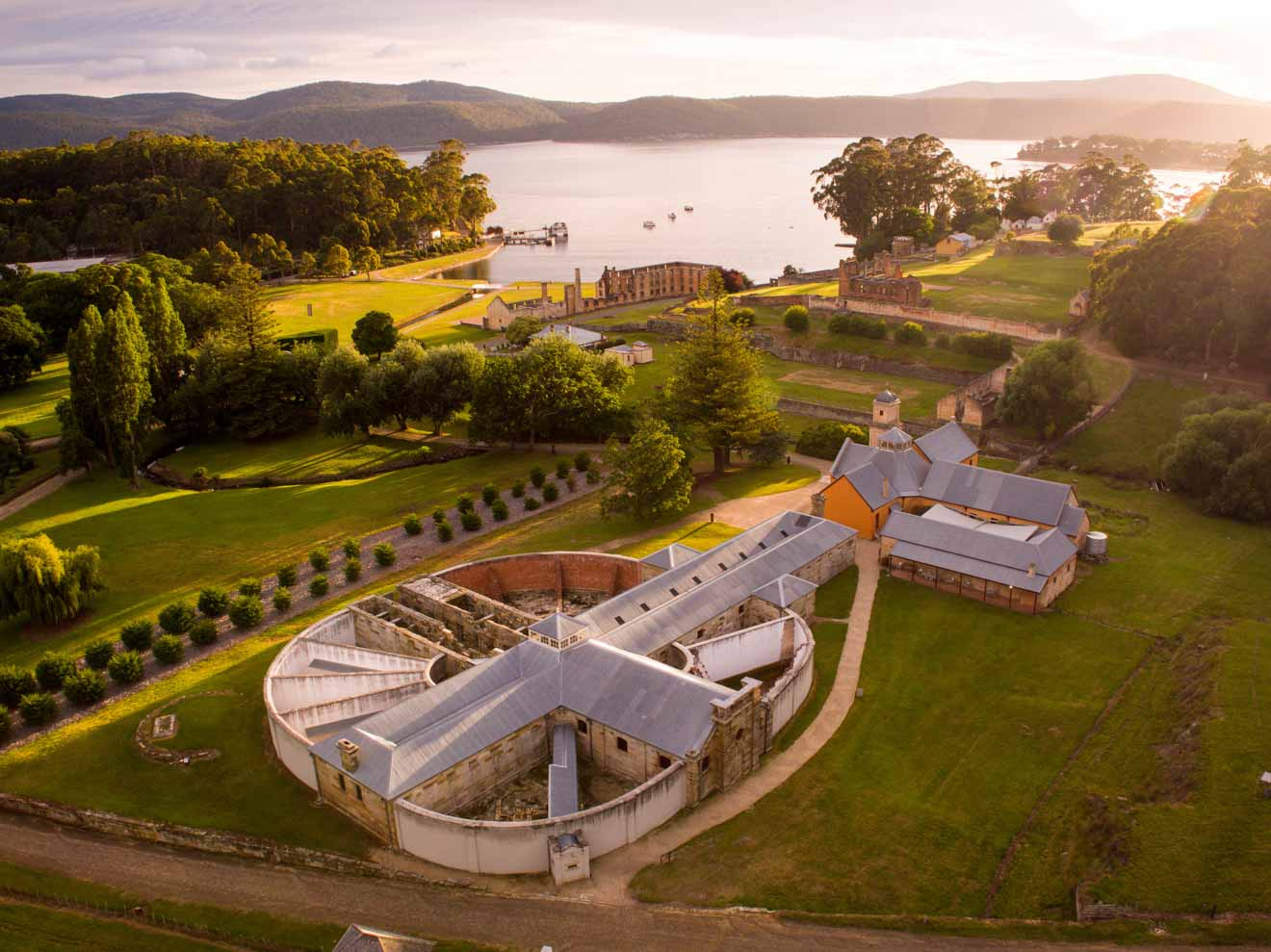 Port Arthur Historic Site tasmania Aerial view