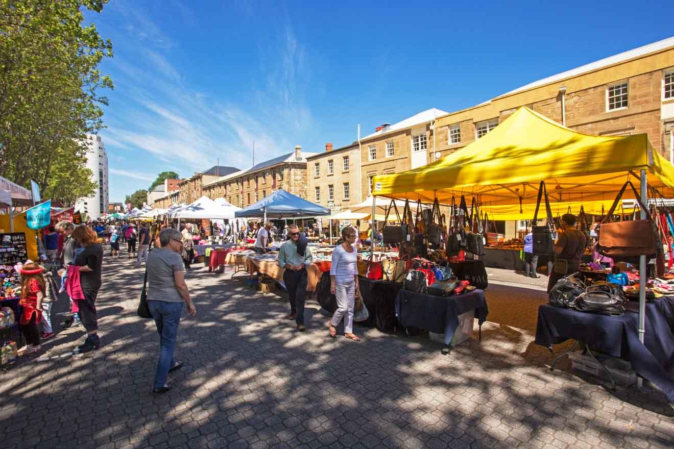Salamanca Market Hobart tasmania Experience