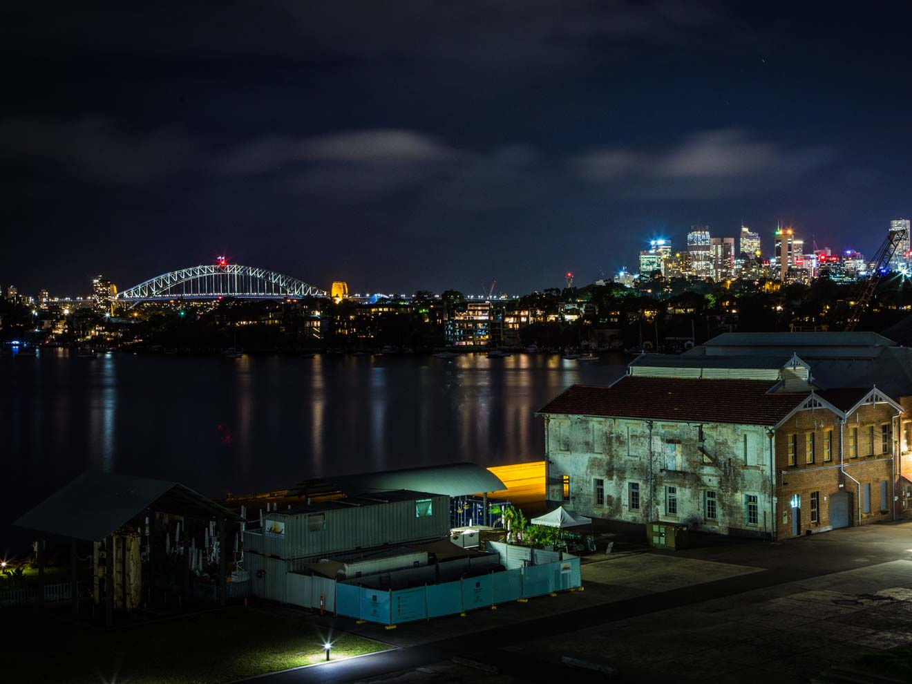 Sydney skyline view from Cockatoo Island
