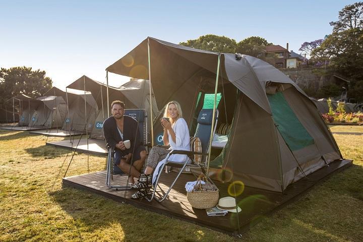 Tent Cockatoo Island open camping