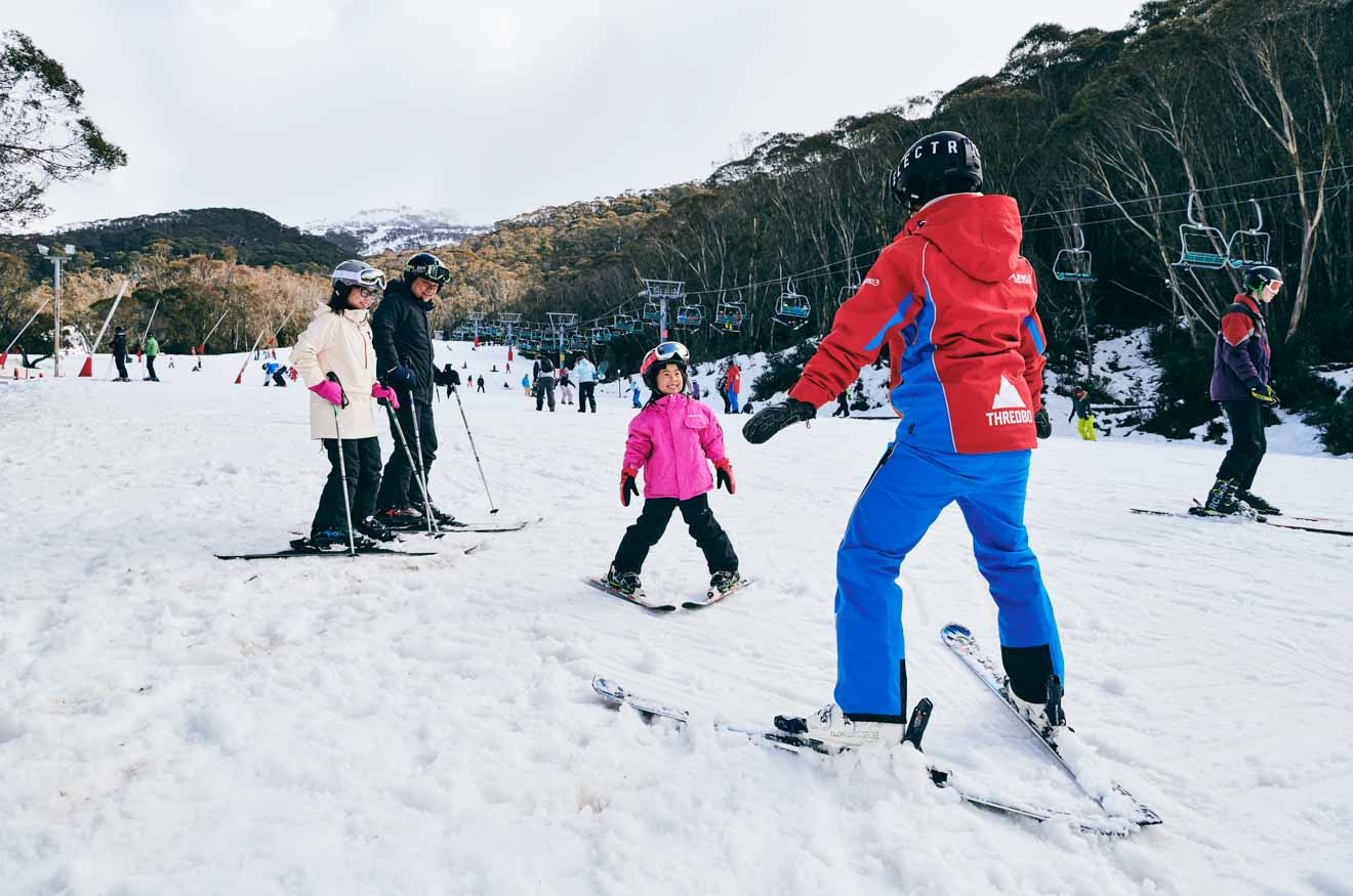 Thredbo in the Snowy Mountains private lesson