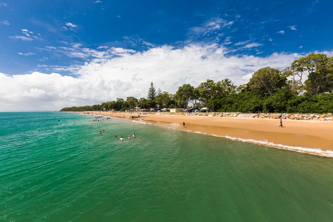 picturesque torquay beach in hervey bay