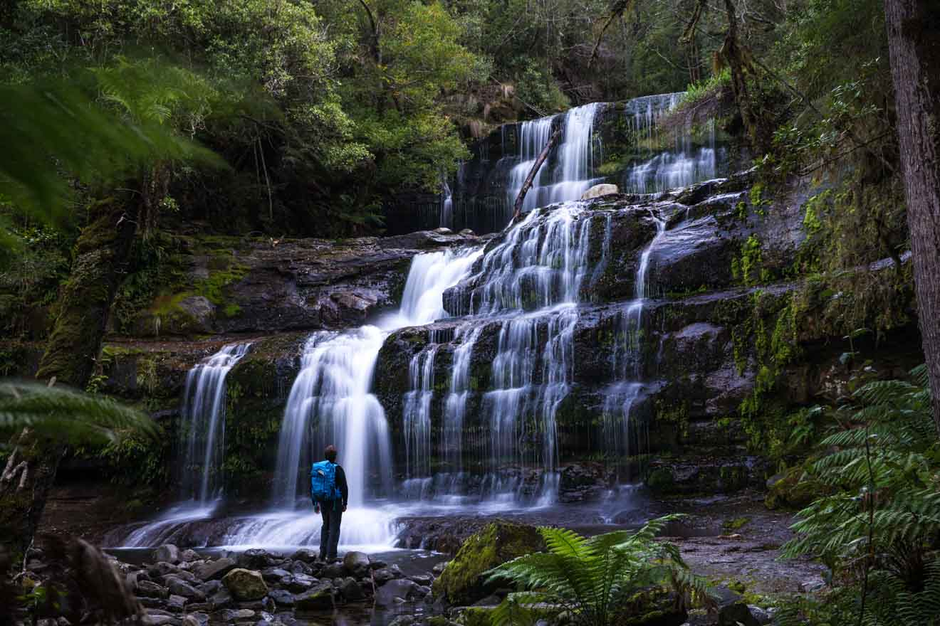 Relaxing Waterfall Mount Field National Park tasmania