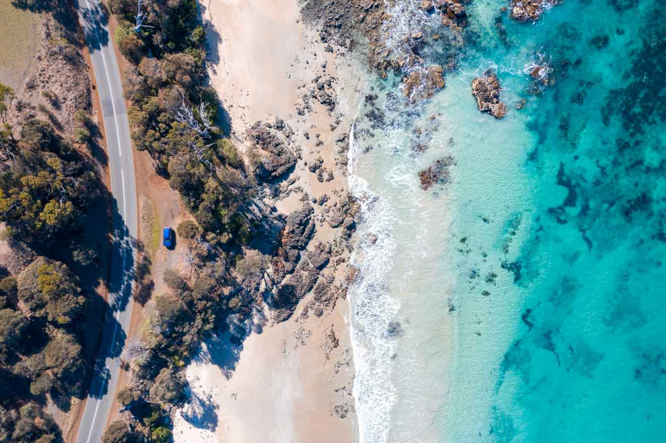 beautiful coast Things to do in Port Arthur white beach