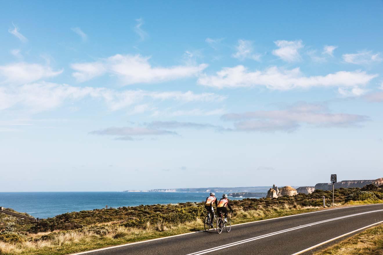 great ocean road itinerary - bike riding Great ocean road itinerary