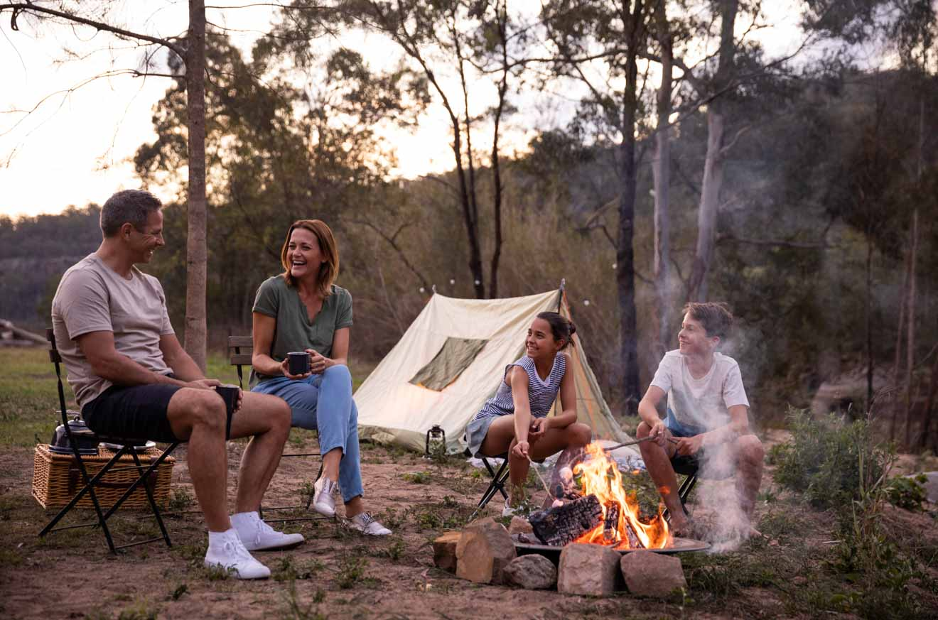 campfire on the Hawkesbury River Things to do in Glenworth Valley