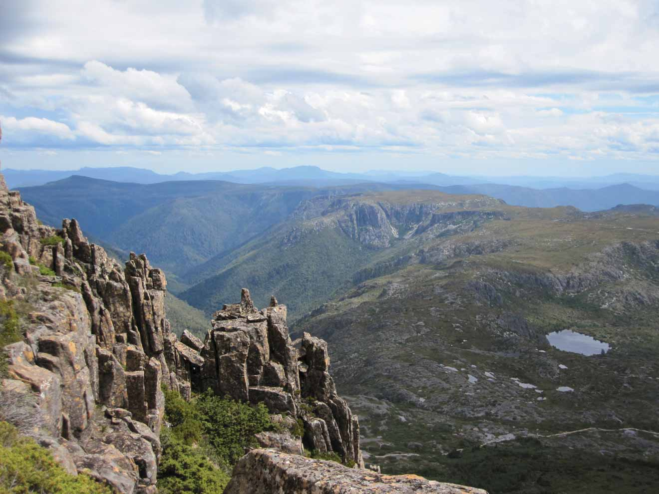 mountain Overland track hiking