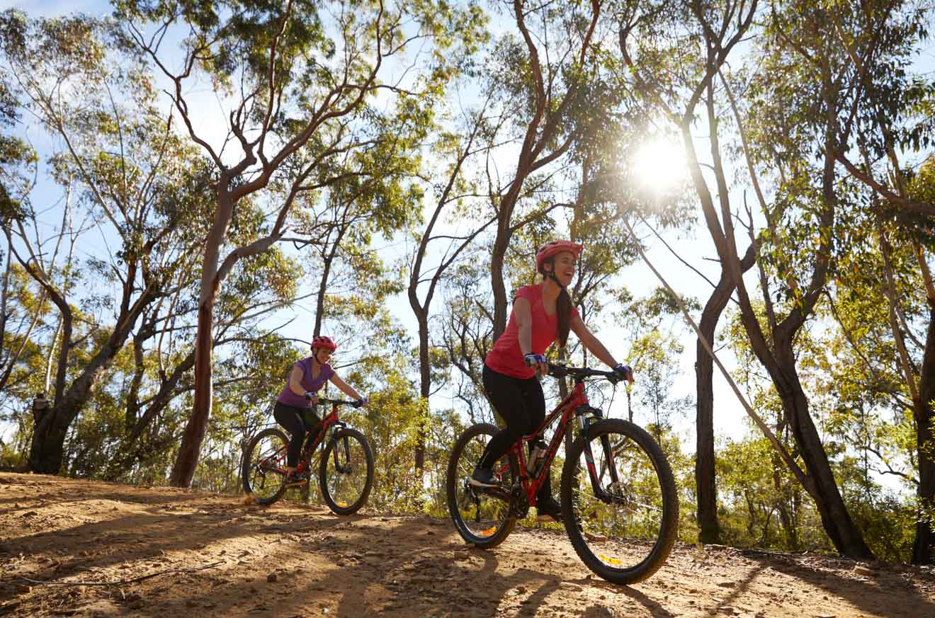 mountain biking in the Blue Mountains National Park map