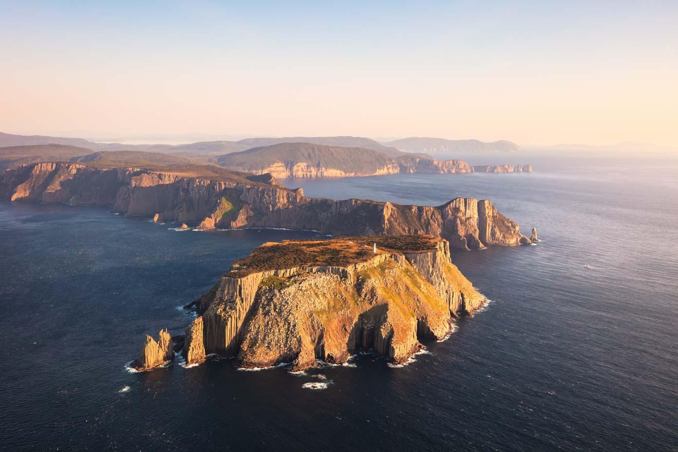 Discover Tasmania - view of south east coast of Tasmania Port Arthur