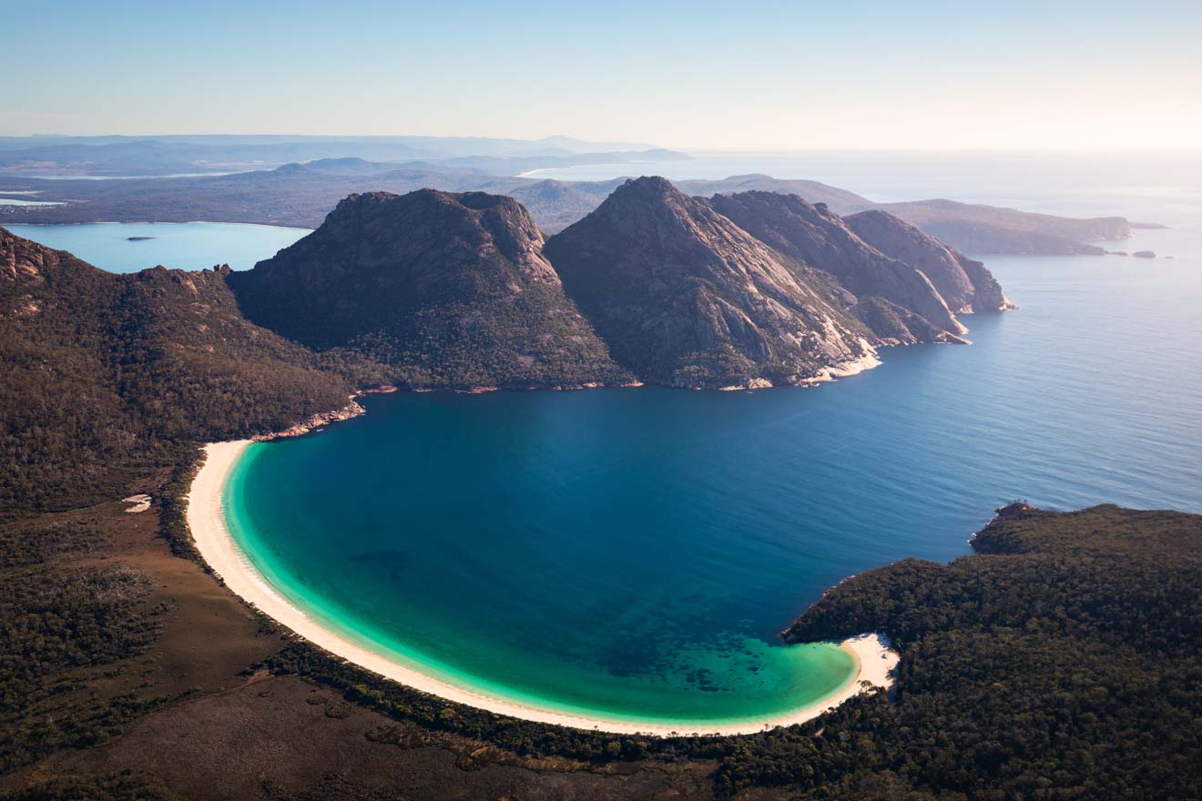 Top white sandy beach tasmania