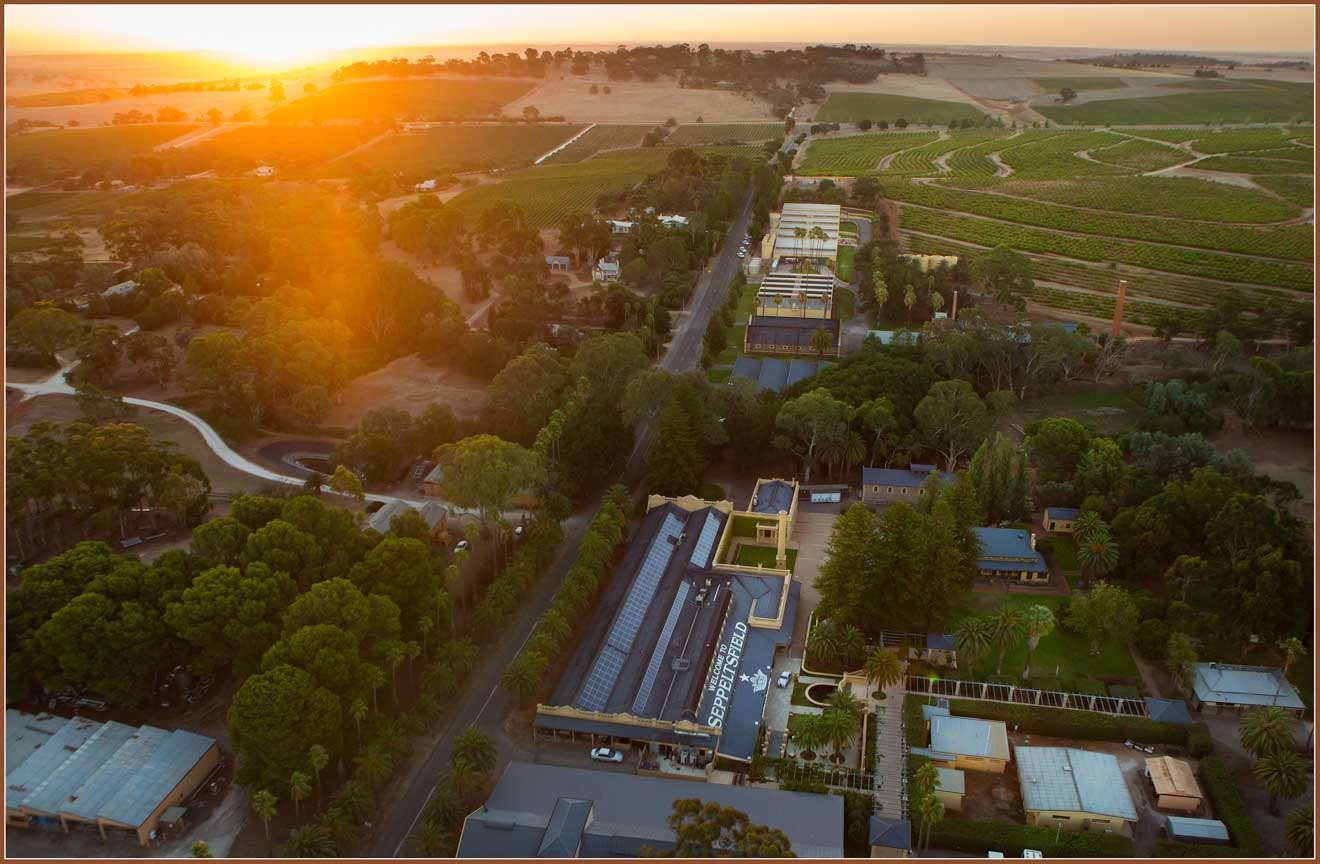 free things to do in barossa valley - Aerial view of Seppeltsfield Things to do in Barossa Valley Wineries