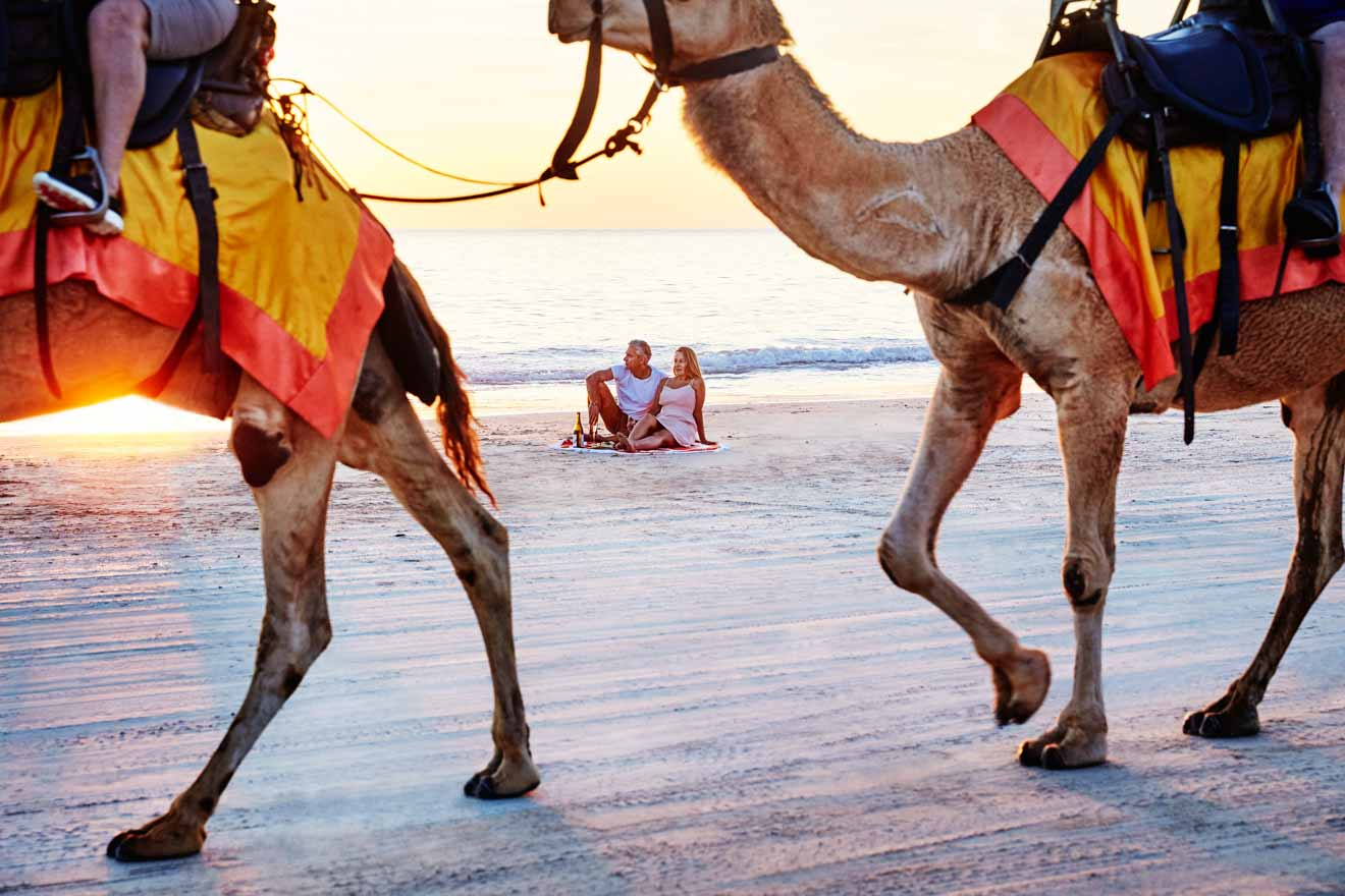 camel Cable Beach romantic Things to Do in Broome