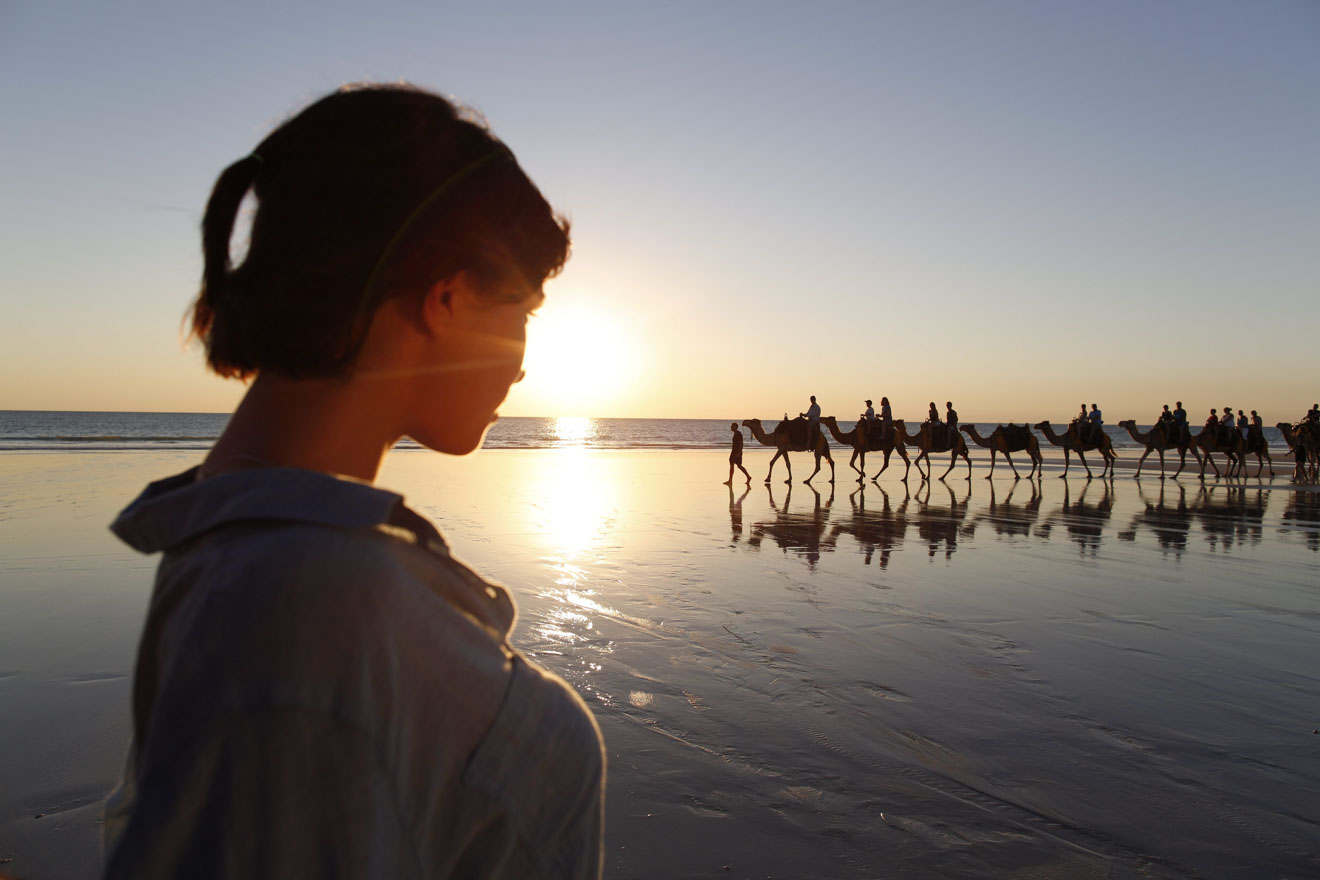 Camel Train at sunset Things to Do in Broome during weekends