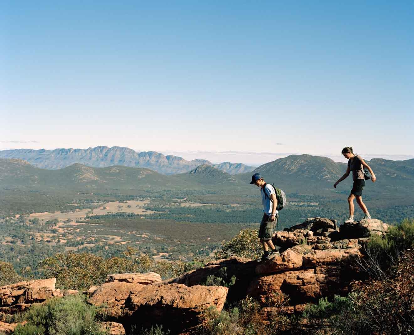 SA; Flinders Ranges; wilpena pound walks