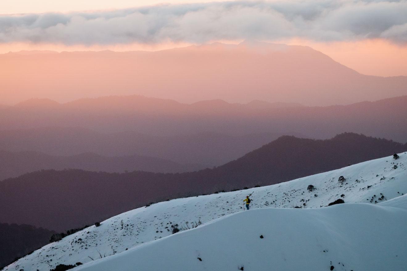 Getting to the snow, Ski Victoria, Australia - Razorback Ridge Mt Buller or Mt Hotham