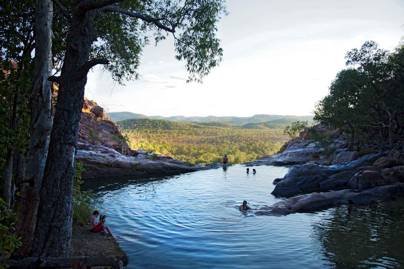 Relaxing at Gunlom Falls Things to do in Kakadu and litchfield