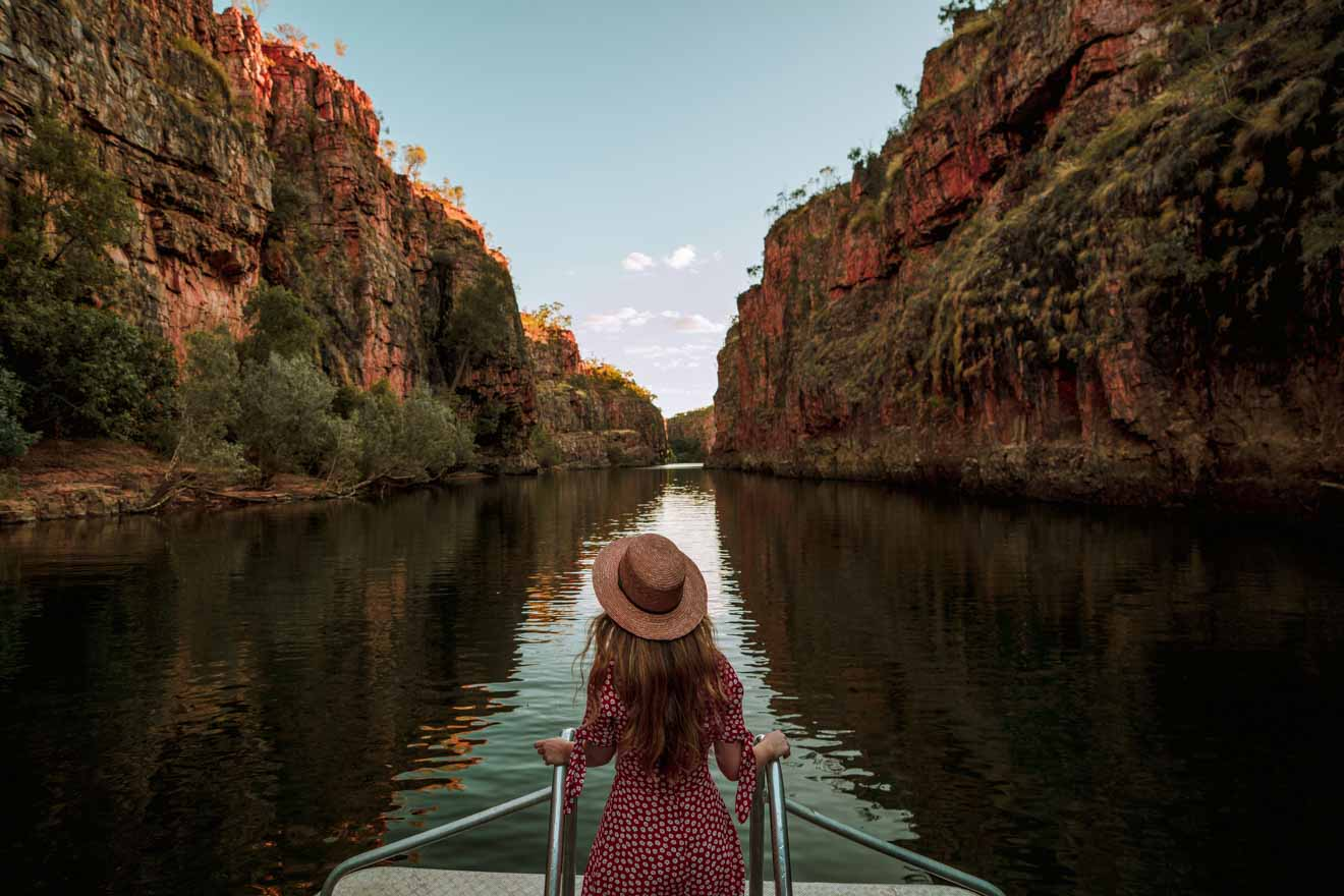 Sunrise illuminates Katherine Gorge Day Trips from Darwin shore excursions