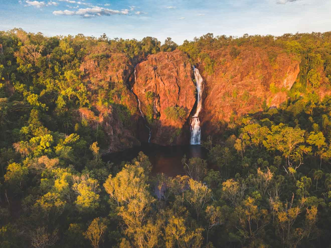 Wangi Falls from above self drive day trips from darwin